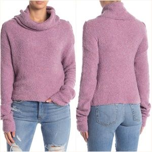 Free People Stormy Cowl Neck Sweater LAVENDER